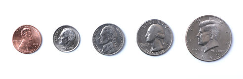 amerikanska mynt Arkivfoton