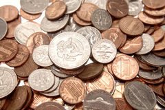 amerikanska mynt Arkivbilder