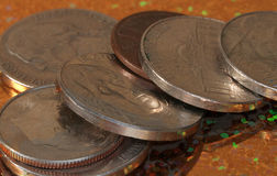 amerikanska mynt Royaltyfri Fotografi