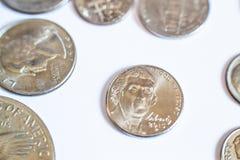 amerikanska mynt Några är gamla historiskt Royaltyfria Foton