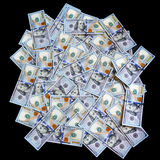 Amerikanska nya 100 dollar Arkivfoto