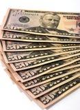 amerikanska pengar Arkivfoto