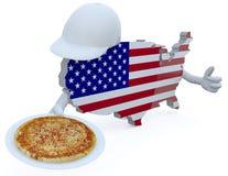 Amerikanska pizzabegrepp Royaltyfri Foto