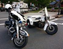 Amerikanska polismotorcyklar, Rutherford, NJ, USA Royaltyfria Bilder