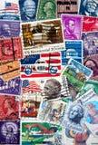 amerikanska portostämplar Arkivbild