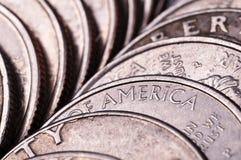 Amerikanska silvermynt Royaltyfri Foto