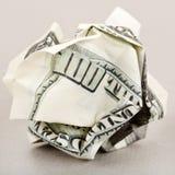 amerikanska skrynkliga pengar Royaltyfria Bilder