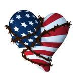 amerikanska slågna in hjärtataggar royaltyfri illustrationer