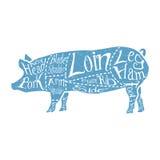 Amerikanska snitt av griskött Royaltyfri Bild