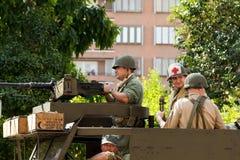 amerikanska soldater Royaltyfria Foton