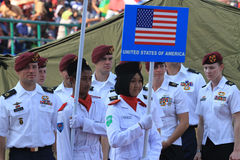 amerikanska soldater Arkivfoton