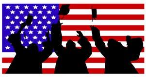 Amerikanska studenter och lock Fotografering för Bildbyråer