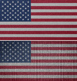 Amerikanska tygflaggor Royaltyfri Bild