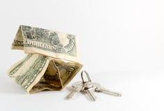 Amerikanska US dollar och hustangenter Royaltyfria Bilder