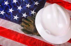 Amerikanskt arbetarkugghjul för blå krage Fotografering för Bildbyråer