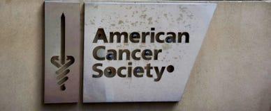 Amerikanskt cancersamhälle arkivbild