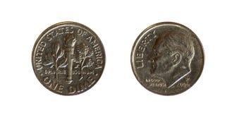 amerikanskt centmynt en encentmynt Royaltyfri Bild