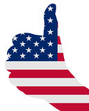 amerikanskt fingertecken Arkivbild