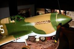Amerikanskt flygplan för kämpe för världskrig två Arkivfoto