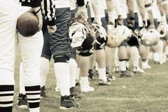amerikanskt fotbollslag Royaltyfri Foto