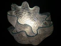 Amerikanskt glass arbete för skulptör- och entreprenörDale Chihuly ` som s visas på Clinton Presidential Center Arkivbilder