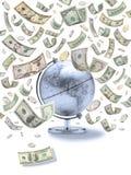 amerikanskt globalt pengarlopp arkivfoton