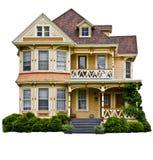 amerikanskt home hus Arkivbild