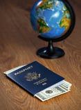 amerikanskt pass Arkivbild