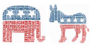 amerikanskt politiskt symbol Arkivfoto