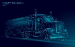 Amerikanskt poly lastbilbottenläge Logistisk trans.affärssläp För branschlast för snabb hastighet medel för leverans stort tungt vektor illustrationer