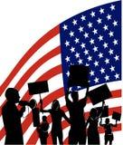 amerikanskt protestera för folk royaltyfri illustrationer