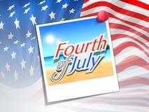 Amerikanskt självständighetsdagenbegrepp. Royaltyfri Bild