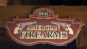 Amerikanskt skjutvapentecken Arkivfoto