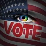 Amerikanskt väljarebegrepp Royaltyfri Fotografi