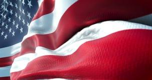 AmerikanUSA flagga, stjärnor och band, USA stock illustrationer