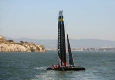 Amerikas Cup Artemis Boot laufen in der Praxis Stockfotografie