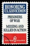 Amerikas förenta stater avbröt portostämpeln som hedrar USA-sevicemenfångar av kriget Arkivfoto