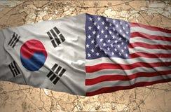 Amerikas förenta stater och Sydkorea stock illustrationer