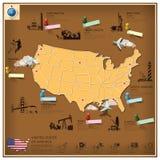 Amerikas förenta statergränsmärkeaffär och lopp Infographi Royaltyfri Fotografi