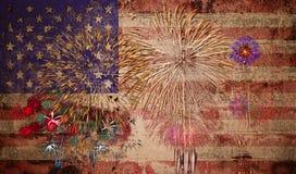 Amerikas förenta staterUSA flagga Arkivfoto
