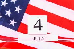 Amerikas förenta staterUSA flagga för 4th Juli Arkivfoto