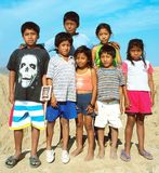 Amerindian children Royalty Free Stock Image