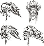 Amerindian Heads Stock Images