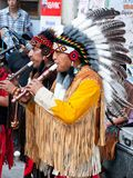 Amerindians perform live Stock Image