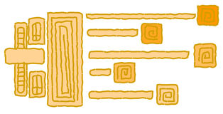 Amerindiansymbol oder -zeichen Lizenzfreies Stockfoto