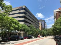 Ameris Bank located on Main Street in Columbia, South Carolina.  stock photos