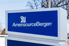 Whitestown - Circa March 2018: AmerisourceBergen Pharmaceutical Distribution Center. Walgreens owns a 26 percent stake II. AmerisourceBergen Pharmaceutical royalty free stock photos