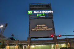 Ameritrade Park in downtown Omaha Stock Images