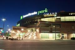 Ameritradepark in Omaha van de binnenstad Royalty-vrije Stock Foto