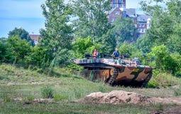 Amerrican Militaire tank in Michigan stock foto